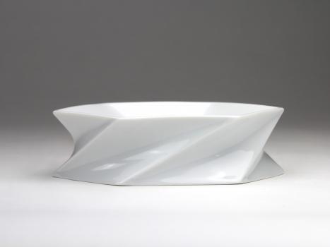 Jan van der Vaart voor Rosenthal, Wit porseleinen object, jaren '90 - Jan van der Vaart