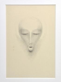 Bernard Richters, Litho van gezicht, jaren '20 - Bernard (B.J.) Richters