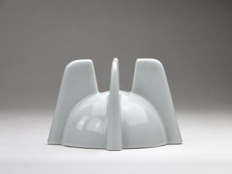 Jan van der Vaart, Witte keramische kandelaar, 1995 - Jan van der Vaart