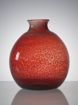 C.J. Lanooy, unique, Large red vase, Glass Factory Leerdam, 1929 - Chris (C.J.) Lanooy