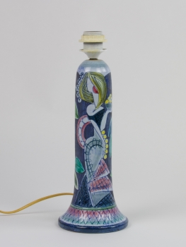 Marian Zawadzki for Tilgmans Keramik, Ceramic lamp socket with female figure and leaves, ca. 1960 - Marian Zawadzki