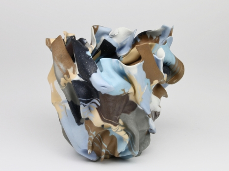 Babs Haenen, Vase 'La resurrection automnale', Porcelain with pigments and glaze, 1996 - Babs Haenen