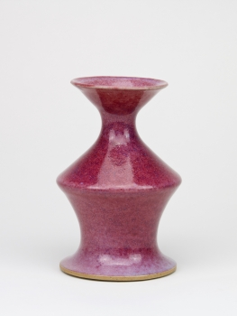 Jan van der Vaart, Unique purple glazed vase, 1980 - Jan van der Vaart