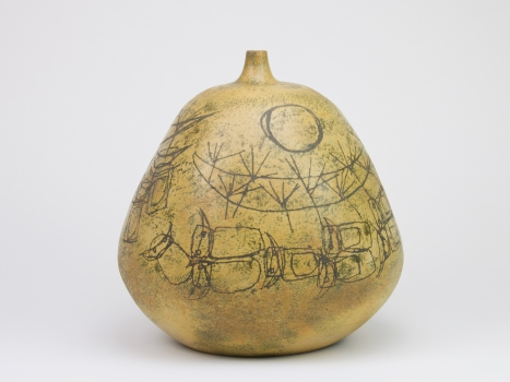 Suzanne Taub, Stoneware vase with incised decorations, Experimental Department of De Porceleyne Fles, Delft, 1961-1963 - Suzanne Taub