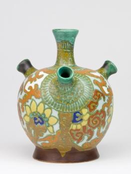 Henri L.A. Breetvelt, Earthenware factory Zuid-Holland, Tulip vase with floral decoration, ca. 1916-1923 - Henri L.A. Breetvelt