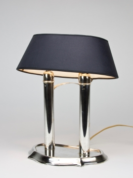 Desk light with silver standard and dark-blue lampshade, 835/000
