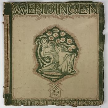 Wendingen, Wood carvers number, cover design Richard Roland Holst, 1919, edition 7-8 - Richard Roland Holst