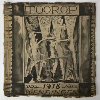 Wendingen, Toorop, omslagontwerp Willem van Konijnenburg, 1918, edition 11-12 - Willem (W.A.) van Konijnenburg