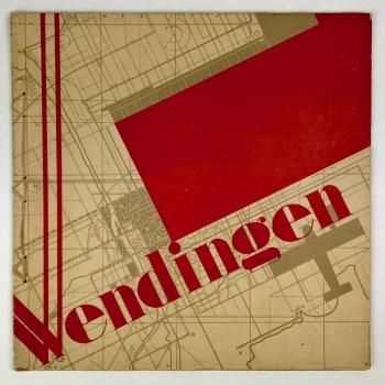 Wendingen, Luchtfoto's, omslagontwerp Arthur Staal, 1930, nummer 5 - Arthur Staal