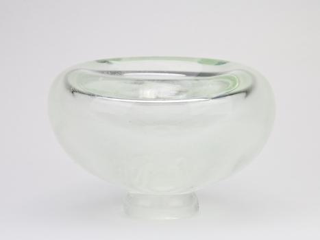 A.D. Copier, Unique clear glass vase with enclosed bubbles, North Sea series, Studio De Oude Horn, 1979 - Andries Dirk (A.D.) Copier