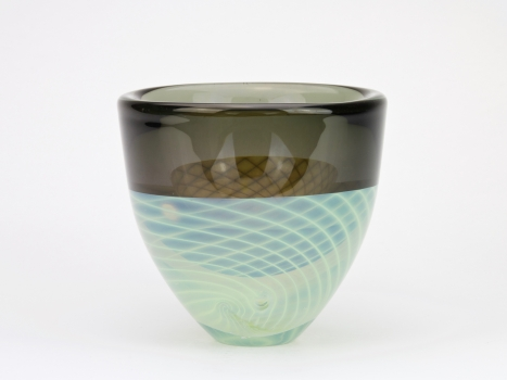 Willem Heesen, Unique vase with spiral decoration, 1984 - Willem Heesen