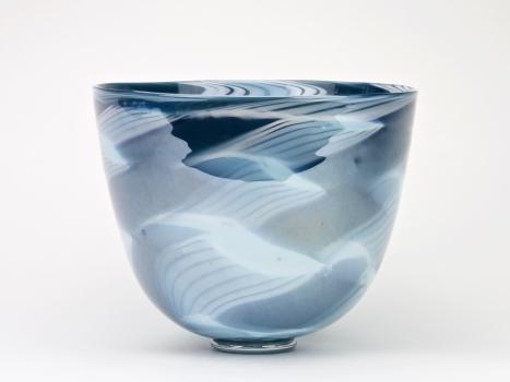 Charlie Meaker, Vase with blue decoration, 1984 - Charlie Meaker