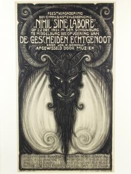 Louis Heymans, Affiche 'De Gescheiden Echtgenoot', 1924 - Laurentius (Louis) Heymans