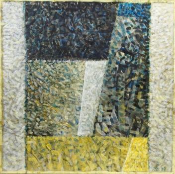 Pieter Borstlap, No title, acrylic on canvas, 1989 - Pieter Borstlap