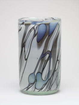 Willem Heesen, Cylindrical vase with line decoration, 'Ligne Linge', De Oude Horn, 1978. - Willem Heesen