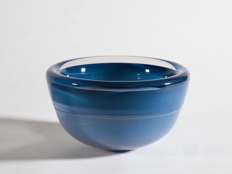 Misha Ignis, Blue thick glass bowl, 'Mirage du N. 07/89', 1989 - Misha Ignis