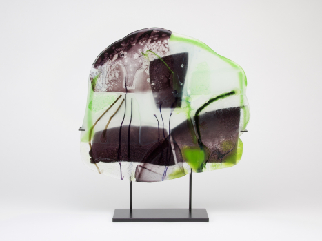 Willem Heesen, 'Linge Landschap', Uniek glaskunstwerk, Studio De Oude Horn, 1988 - Willem Heesen