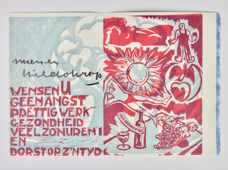 Hildo Krop, Seven New Year's cards, Woodcut on paper, 1952-1966 - Hildo (H.L.) Krop