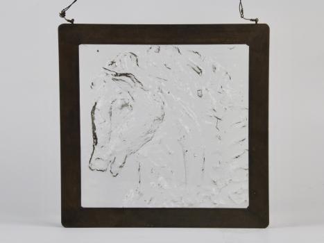 Willem Heesen, Glass tile with a horse head, 1955 - Willem Heesen