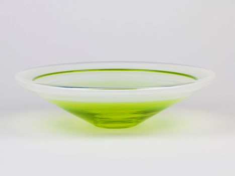 Floris Meydam, Unique glass bowl, executed by Neil Wilkin, Wimborne, 1992 - Floris Meydam