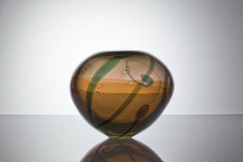 Willem Heesen, Unique vase with opalescent shine, Studio De Oude Horn, 1988 - Willem Heesen