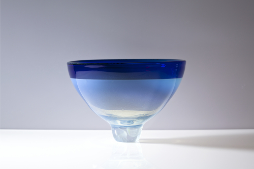 Willem Heesen, Unique glass bowl on foot, Studio De Oude Horn, 1986. - Willem Heesen