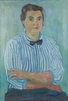 Dirk Breed, 'Portrait Lia', oil on canvas, signed 'Dirk Breed' top left, 1963, 82x57 cm. - Dirk Breed