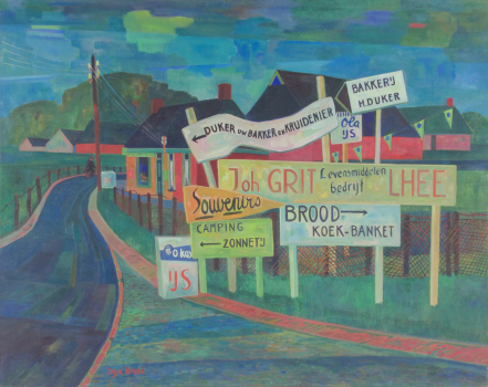 Dirk Breed, 'Concurrentie', oil on canvas, signed 'Dirk Breed' bottom left, 80 x 100 cm - Dirk Breed