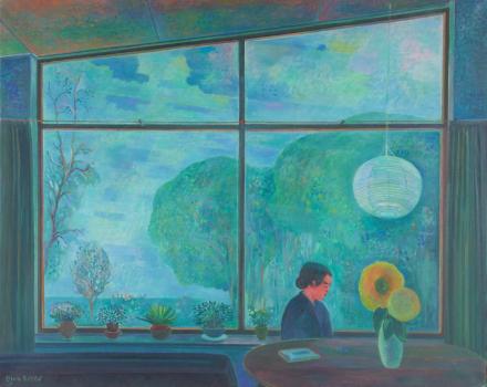 Dirk Breed, 'Kamer', oil on canvas, signed - Dirk Breed