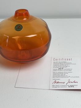 Menno Jonker, Amalia vase, 2004, met cert. opl. 352/500 - Menno Jonker