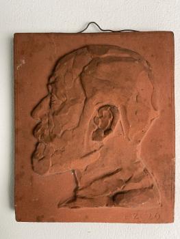 Lambertus Zijl, Terracotta tile 1926 - Lambertus Zijl