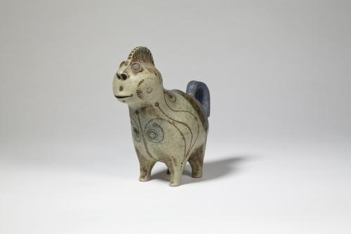 Hans de Jong, Glazed stoneware sculpture, fantasy animal, jaren 70 - Hans de Jong