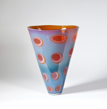 Peter Bremers, Unique vase with graal technique, 'Waikal', executed by Neil Wilkin, 1998 - Peter Bremers