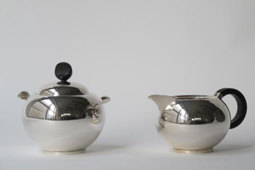 Van Kempen Voorschoten, Silver milk and sugar set, year number G, 1941 - Zilverfabriek Van Kempen & Zonen, Voorschoten