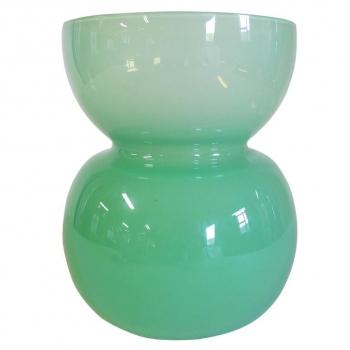 Jan van der Vaart, Leerdam Unica, Groene glazen vaas, 1995 - Jan van der Vaart