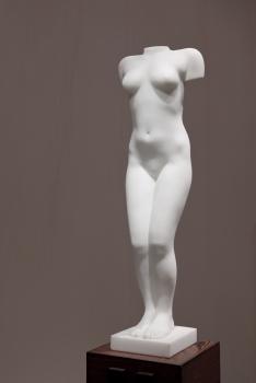 Eja Siepman van den Berg, 'Zigzag' torso, Carrara marmer, 1995 - Eja Siepman van den Berg