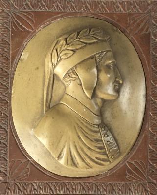 Buste van Dante in lava