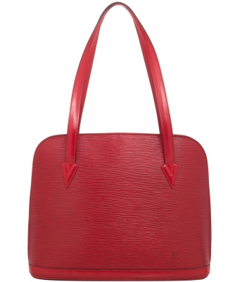 Louis Vuitton Lussac Tote Bag in Red Epi Leather - Louis Vuitton