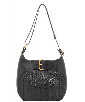 Delvaux Black Souverain Toile de Cuir Shoulder Bag