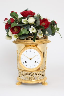 A fine French Empire ormolu urn mantel clock, Angevin A Paris, circa 1800