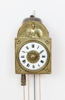A miniature German Sorg wall timepiece, circa 1840