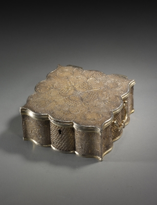 Filigree silver box, Qing dynasty works of art from China