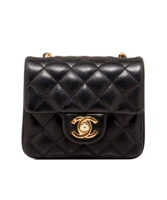 Chanel Black Micro Mini Classic Cross Body Bag