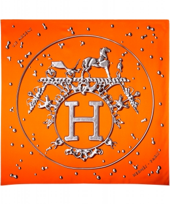 Hermès Carré 90 'Vif Argent'
