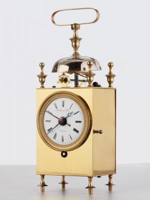 A French ' Capucine' carriage clock, circa 1840