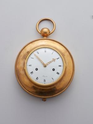 A French ormolu wall clock by Bourdier a Paris, circa 1790