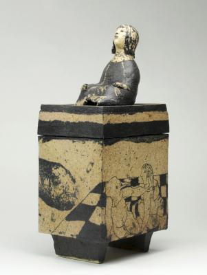 Lies Cosijn, 'The Box of Pandora', ceramic box with lid, ca. 1978 - Lies Cosijn