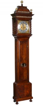 A good Dutch walnut striking longcase clock Pieter Klok Amsterdam circa 1710