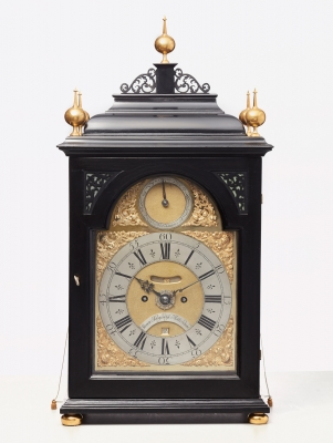 A Dutch ebonised quarter striking bracket clock by Hoogendijk, circa 1730