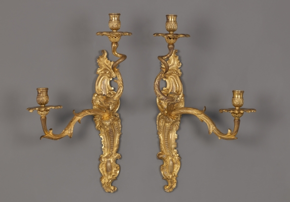 Pair of French Regènce Wall Lights